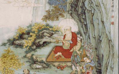 """浅谈夏荊山〈十八罗汉图〉的表现方式与其对贯休""""禅月样"""" 罗汉图式的继承与拓展"""